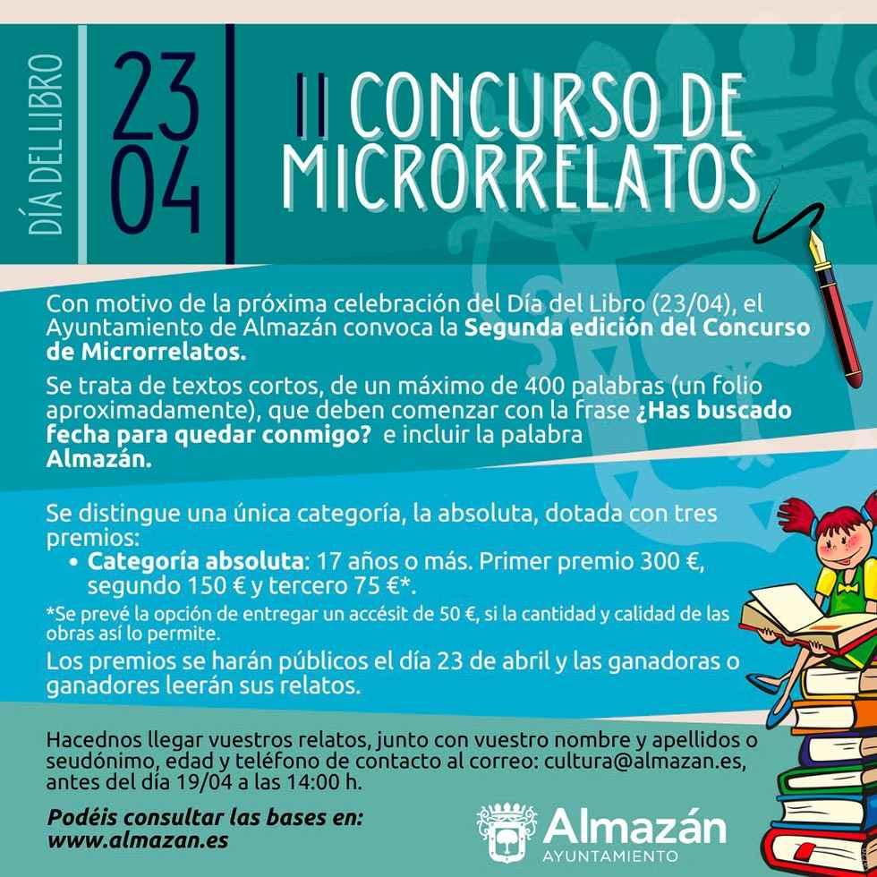 Convocado concurso de microrrelatos para Día del Libro