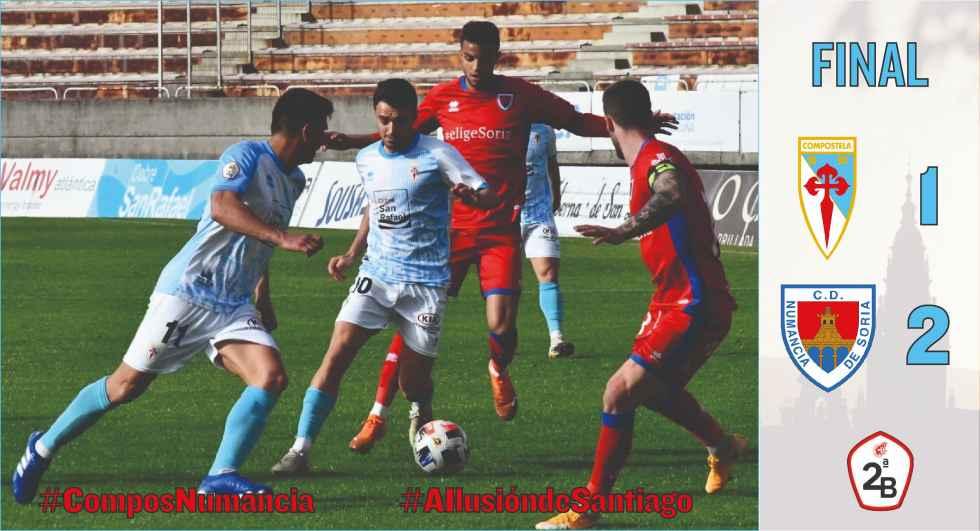 El Numancia arranca con victoria en Santiago