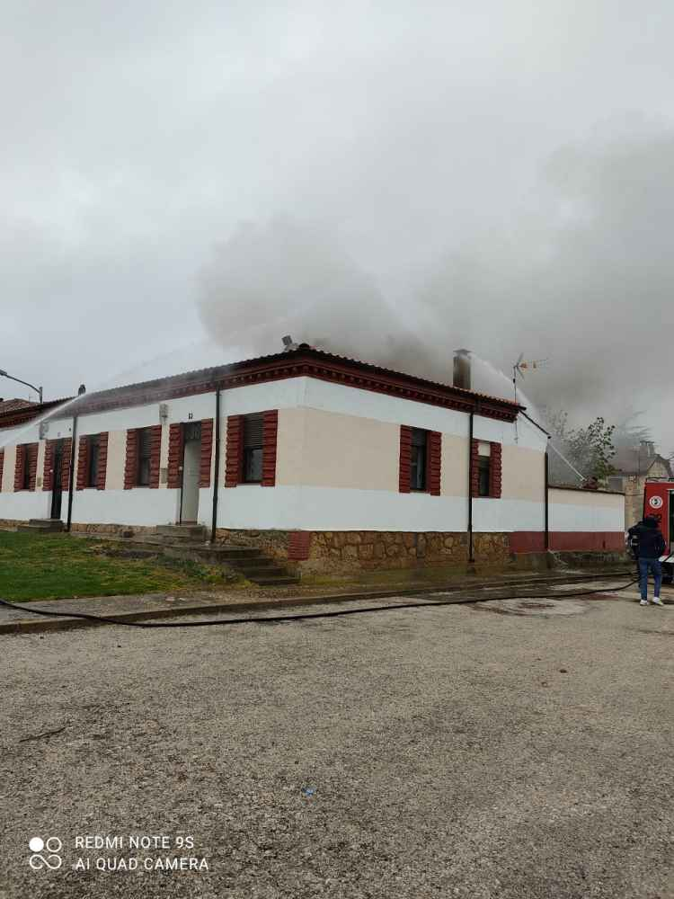 Incendio en una vivienda de Quintana Redonda