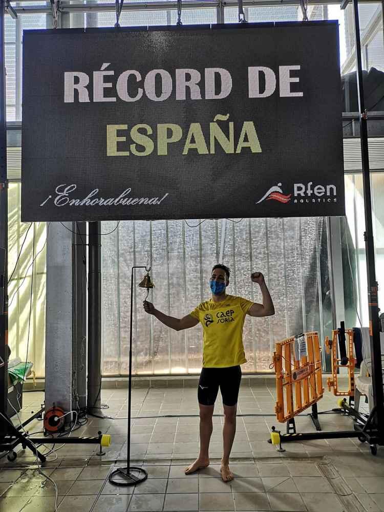 Récord de España master del nadador Sergio Martín