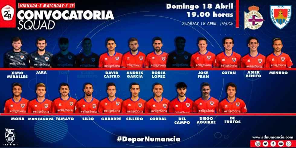 Deportivo y Numancia, con casi todo para el domingo
