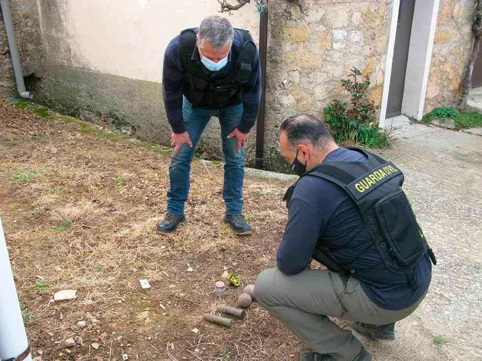 Encontrado armamento de la Guerra Civil en Viana de Duero