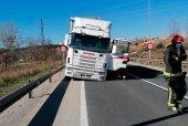 Accidente de camión a la entrada de Soria