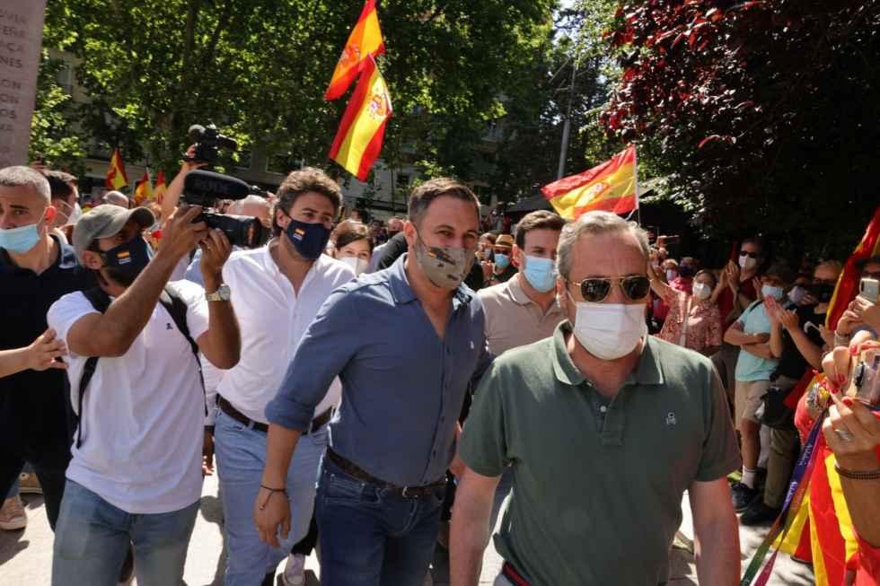 Protesta ciudadana contra indultos de Sánchez
