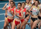 Marta Pérez, en la final de 1.500 metros