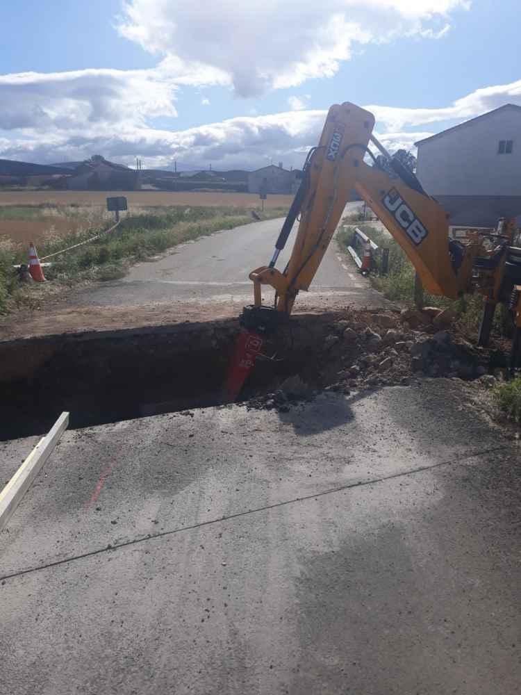 Diputación señaliza los cortes en varios tramos de carretera
