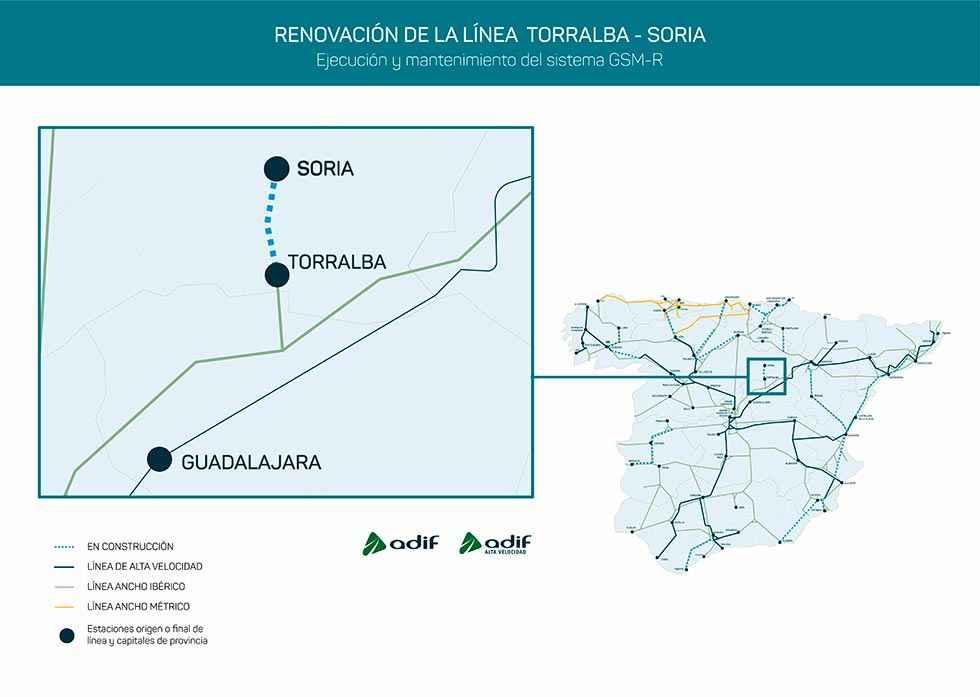 Adif licita mejora comunicaciones en Torralba-Soria