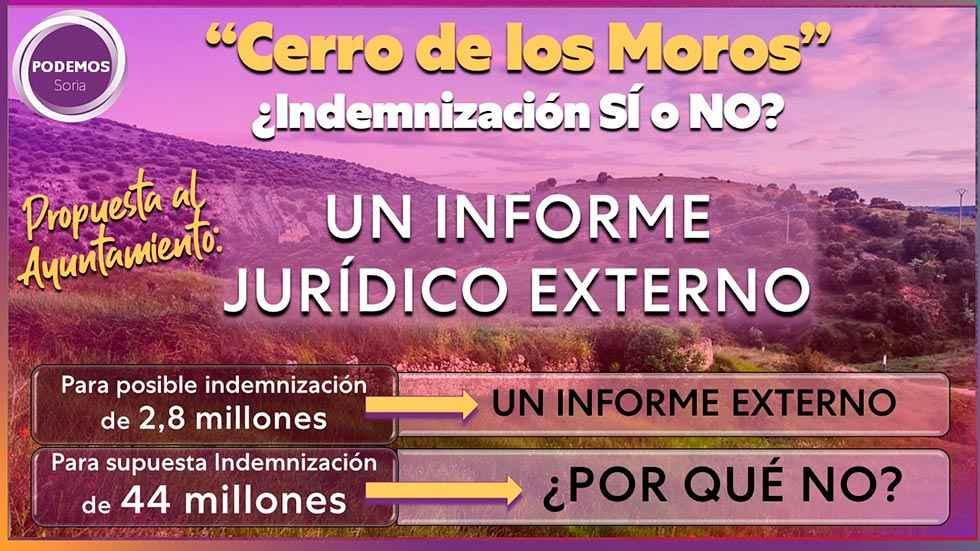 Podemos pide informe jurídico externo sobre indemnización