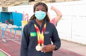 Ashley Abaga, bronce en Campeonato de España sub 20