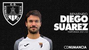 Diego Suárez, nuevo refuerzo para el Numancia