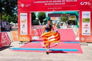 Cataluña y Valencia ganan Triatlón en Edad Escolar