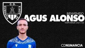 Agus Alonso, otro delantero para el Numancia
