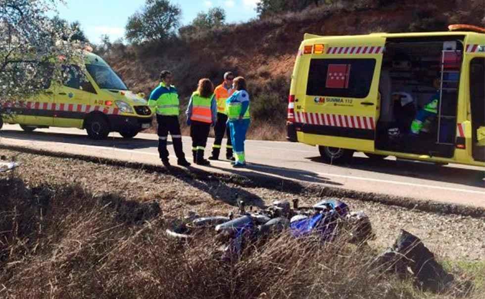 Motorista fallecido por caída en Zamora