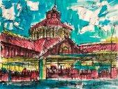 Joan Bueno cuelga su obra en Galería Cortabitarte