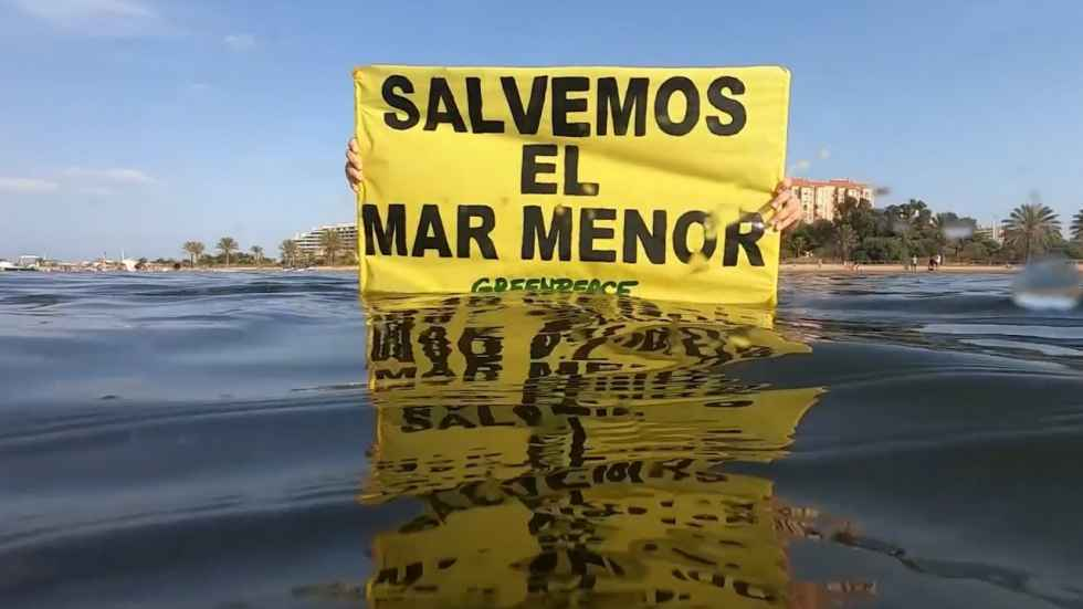 Recogida de firmas para salvar al Mar Menor