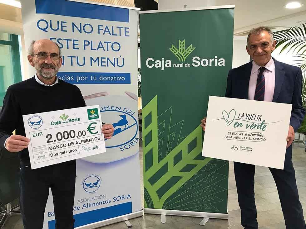 """Cheque solidario de la campaña """"La Vuelta en Verde"""""""