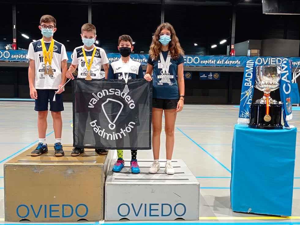 Cuatro medallas de Valonsadero Bádminton en Oviedo