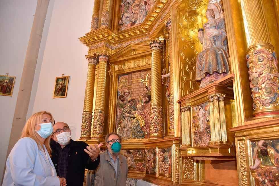 Restaurado retablo de iglesia de La Póveda de Soria