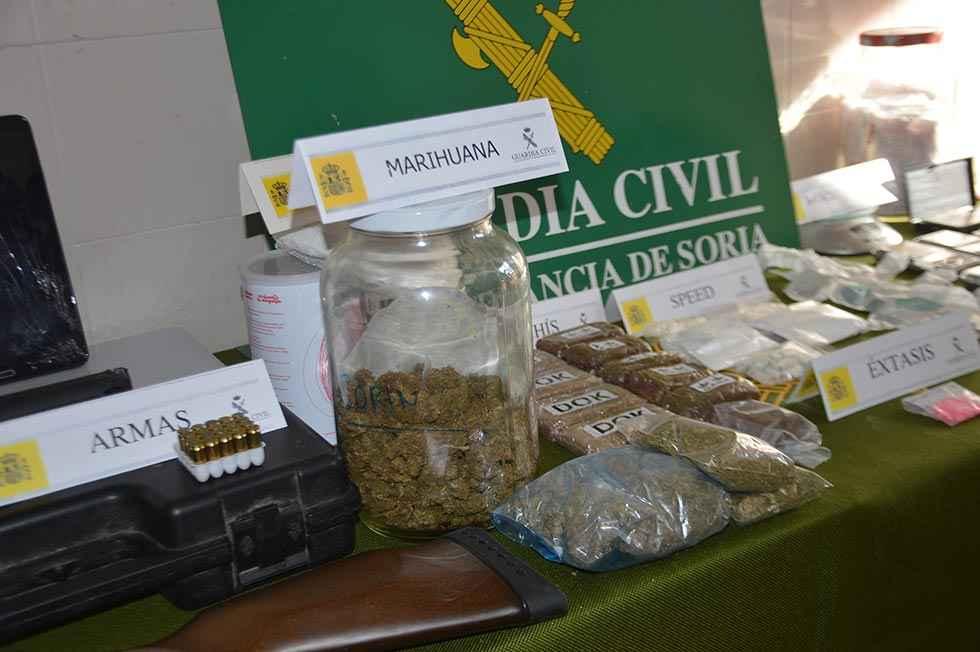 Trece detenidos por tráfico de drogas