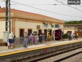 Concentración para defender tren en Alto Jalón