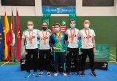 Botín de medallas en Campeonato de España