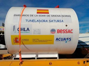 """Llega """"Saturia"""", la tuneladora de nueva EDAR"""